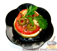 Фото приготовления рецепта: Пикантные помидоры с чесноком. - шаг №3