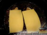 Фото приготовления рецепта: Рулетики с грибами - шаг №5