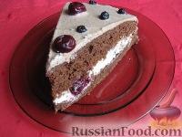 Фото к рецепту: Торт пражский с вишнями