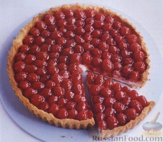 Пирог с малиной рецепт открытый