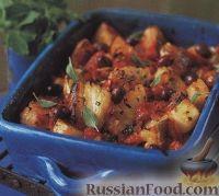 Фото к рецепту: Картофель, запеченный с треской