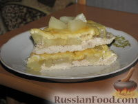 Фото к рецепту: Курица с ананасами под сыром