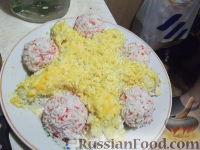 Фото к рецепту: Салат Мимоза и закуска Рафаэлки