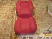 """Фото приготовления рецепта: Торт """"Машинка Маккуин"""" (Тачки) (пошагово) - шаг №25"""