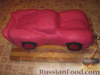 """Фото приготовления рецепта: Торт """"Машинка Маккуин"""" (Тачки) (пошагово) - шаг №26"""