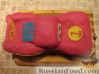 """Фото приготовления рецепта: Торт """"Машинка Маккуин"""" (Тачки) (пошагово) - шаг №30"""