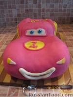 """Фото приготовления рецепта: Торт """"Машинка Маккуин"""" (Тачки) (пошагово) - шаг №35"""