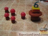 """Фото приготовления рецепта: МК Торт """"Домик Смурфиков"""" (пошагово) - шаг №17"""