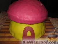 """Фото приготовления рецепта: МК Торт """"Домик Смурфиков"""" (пошагово) - шаг №22"""