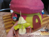 """Фото приготовления рецепта: МК Торт """"Домик Смурфиков"""" (пошагово) - шаг №25"""