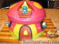 """Фото приготовления рецепта: МК Торт """"Домик Смурфиков"""" (пошагово) - шаг №26"""