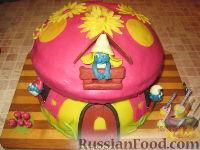 """Фото приготовления рецепта: МК Торт """"Домик Смурфиков"""" (пошагово) - шаг №27"""