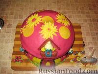 """Фото приготовления рецепта: МК Торт """"Домик Смурфиков"""" (пошагово) - шаг №28"""