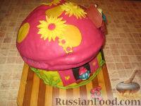 """Фото приготовления рецепта: МК Торт """"Домик Смурфиков"""" (пошагово) - шаг №29"""