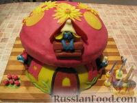 """Фото приготовления рецепта: МК Торт """"Домик Смурфиков"""" (пошагово) - шаг №30"""
