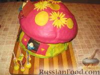 """Фото приготовления рецепта: МК Торт """"Домик Смурфиков"""" (пошагово) - шаг №31"""