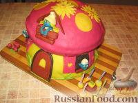 """Фото приготовления рецепта: МК Торт """"Домик Смурфиков"""" (пошагово) - шаг №32"""