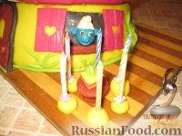 """Фото приготовления рецепта: МК Торт """"Домик Смурфиков"""" (пошагово) - шаг №33"""