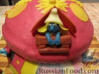 """Фото приготовления рецепта: МК Торт """"Домик Смурфиков"""" (пошагово) - шаг №34"""