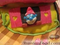 """Фото приготовления рецепта: МК Торт """"Домик Смурфиков"""" (пошагово) - шаг №35"""