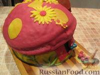"""Фото приготовления рецепта: МК Торт """"Домик Смурфиков"""" (пошагово) - шаг №36"""