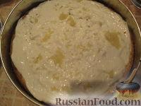 Фото приготовления рецепта: МК Торт творожный с Китти (разукрашка пошагово) - шаг №5