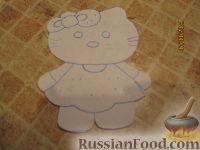 Фото приготовления рецепта: МК Торт творожный с Китти (разукрашка пошагово) - шаг №6