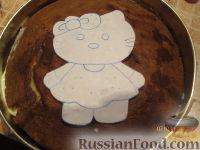 Фото приготовления рецепта: МК Торт творожный с Китти (разукрашка пошагово) - шаг №7