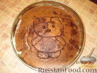 Фото приготовления рецепта: МК Торт творожный с Китти (разукрашка пошагово) - шаг №11