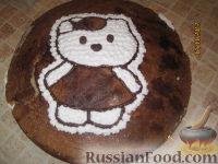 Фото приготовления рецепта: МК Торт творожный с Китти (разукрашка пошагово) - шаг №12