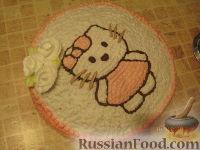 Фото приготовления рецепта: МК Торт творожный с Китти (разукрашка пошагово) - шаг №17