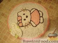 Фото приготовления рецепта: МК Торт творожный с Китти (разукрашка пошагово) - шаг №18