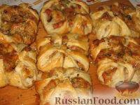 Фото приготовления рецепта: Слойки с ветчиной и сулугуни - шаг №6