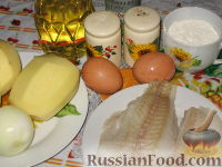 Фото приготовления рецепта: Картофельно-рыбные оладьи - шаг №1