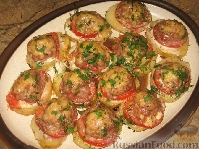 запеченный фарш с помидорами и сыром в духовке рецепт с фото