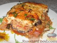 Фото приготовления рецепта: Баклажанная запеканка с капустой и перцем - шаг №7
