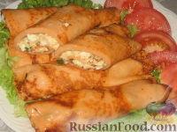 Фото приготовления рецепта: Томатные блинчики с тунцом - шаг №5