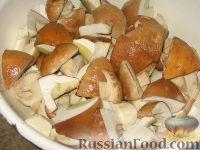 Фото приготовления рецепта: Маринованные белые грибы - шаг №3