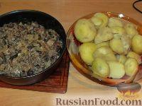 Фото приготовления рецепта: Картофельные оладьи с грибами и луком - шаг №3
