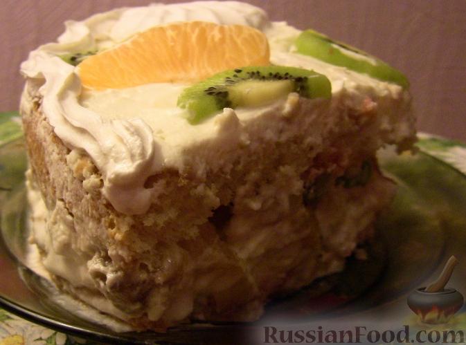 С фото пошаговый бисквитный торт с
