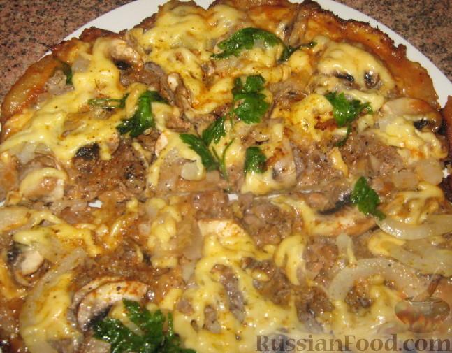 Пицца на сковороде быстрая пицца