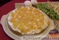 Фото приготовления рецепта: Бисквитный торт с зефиром и фруктами - шаг №1