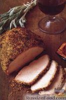 Фото к рецепту: Индюшиное филе с горчицей, шалфеем и петрушкой