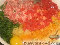 Фото приготовления рецепта: Большие пестрые котлеты - шаг №2
