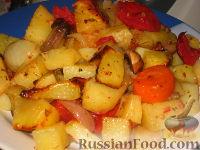 Фото к рецепту: Картофель с овощами в рукаве