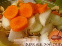 Фото приготовления рецепта: Картофель с овощами в рукаве - шаг №5