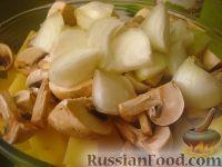 Фото приготовления рецепта: Картофель с овощами в рукаве - шаг №4