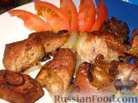 Фото приготовления рецепта: Шашлык в рукаве - шаг №9