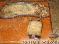 Фото приготовления рецепта: Запеканка из кабачковых и баклажанных рулетов - шаг №4