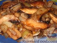 Фото приготовления рецепта: Грибы жареные с луком - шаг №5